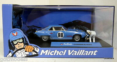 Michel Vaillant cartoon 1/43 scale diorama Valliante Commando rally model car