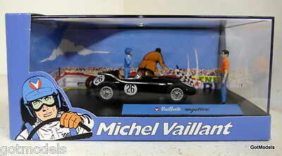 Michel Vaillant cartoon 1/43 scale diorama Valliante Mystere model car + Figures