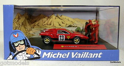 Michel Vaillant cartoon 1/43 scale diorama Leader Marathon model car + figures