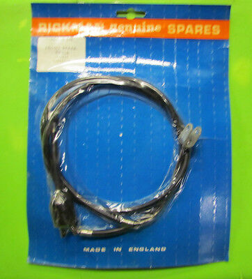 Rickman NOS Zundapp 125 Six day Front Brake Cable w/ Switch p/n R011 05 044