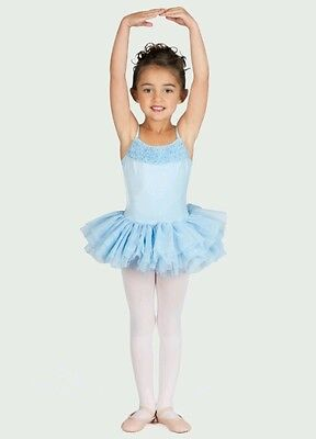 Bloch Leotard tu tu dress 2-4, 4-6, 6X-7 Pale blue New but washed CL7120 tutu