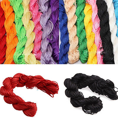 Colored Premium Nylon Macrame Cord Thread for DIY Jewelry Making 1mm 2mm
