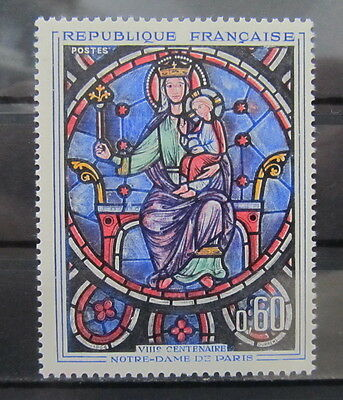 A849 France 1964 Window Of Notre Dame Mnh**