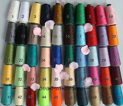 50 Colors 3000 Yards Quality Overlocking Sewing Machine Polyester Thread Cones