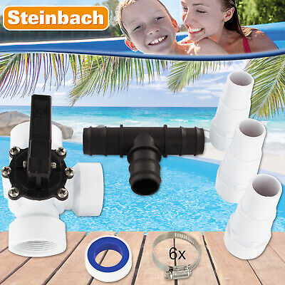 Miganeo® Bypass Set Adapter Pool Schwimmbad Heizung Poolheizung Solarkollektor