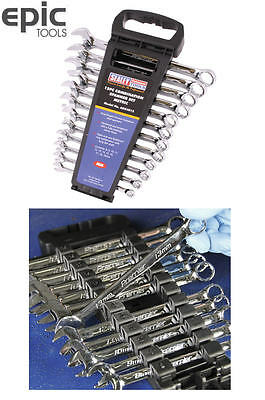 SEALEY 12 Piece Premier Metric Combination Spanner Wrench Set & Rack, AK63012