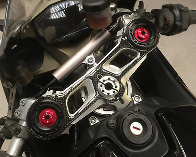 Carbon Fibre Effect Yoke Cover to fit Ducati Panigale 1199 - 1299 (57mm forks)