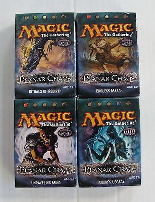 Magic The Gathering Planar Chaos Set of All 4 Theme Decks Lot