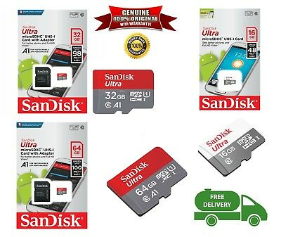 NEW !!! SanDisk MicroSD Card 16G 32GB 64GB SDHC/XC Class 10 Ultra 100%GENUINE