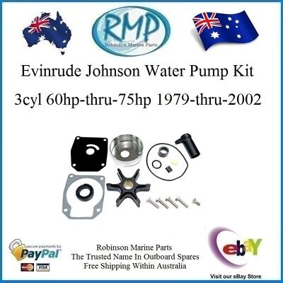 A New Evinrude Johnson Water Pump Kit 60hp-thru-75hp 1979-thru-2002 # R 432956