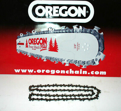 """TWO 2 x16""""  Oregon Chainsaw Chains 91P 56 Drive Links 3/8"""" 050"""" 1.3mm (91P056E)"""