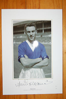 Jimmy Greaves Chelsea Signed Intofootball Print '100 Goals Before 21'