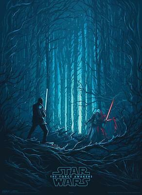 "STAR WARS THE FORCE AWAKENS Original Promo Movie Poster 9.5""x13"" IMAX 2015 AMC 4"