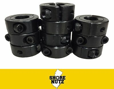 "(10) 1-1/4"" Double Split Steel New Clamping Shaft Collar Black Oxide  Sc125D"