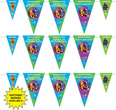 Personalised Furchester Hotel Birthday Bunting 3m-15 pendants, name/age