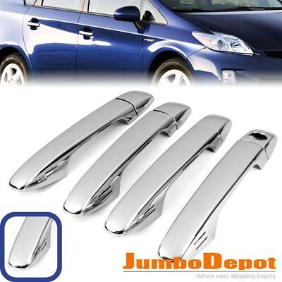 Chrome Side Door Handle Cover Trims For 10-15 Toyota Prius Zvw30 Venza Sienna