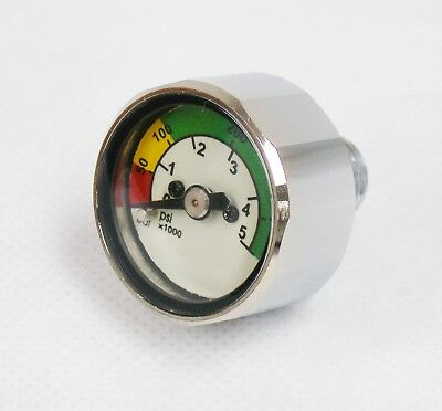 OTG Scuba Diving Pony Bottle Pressure Gauge - Bar & PSI (Mini SPG) #OG-23