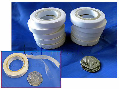 10x DOUBLE SIDED Adhesive Sticky Clear Thin TAPE 9mm x 6.5m Paper Art Craft Card