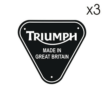 Stickers plastifiés Triumph MADE IN GREAT BRITAIN - 5cm x 5cm
