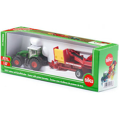 Siku Fendt 939 Tractor With Potato Harvester (Scale 1:87) NEW