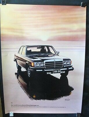 1990 Mercedes Benz 300SD Turbodeisel Showroom Poster x8733