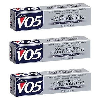 Alberto VO5 Conditioning Hairdressing Gray/White/Silver Blonde Hair (Pack of 3)