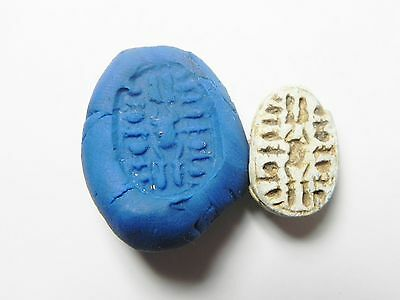 Zurqieh -Af338- Ancient Egypt , 2Nd Intermediate Scarab. 1650-1550 B.c