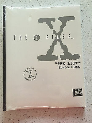 "X-Files shooting script for Episode 5 Season 3 ""The List"""