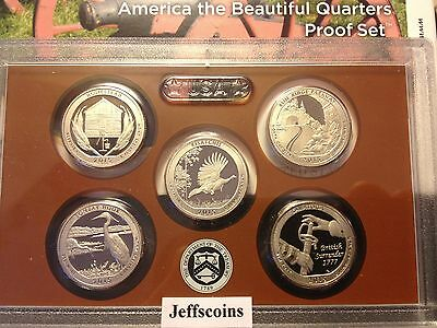 2016 2015 S U.S Mint Proof Sets 10 Clad Quarters Box COA Homestead - Ft Moultrie