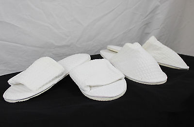 Promotional Waffle Weave Cotton Spa Slippers Closed or Open Toe New!