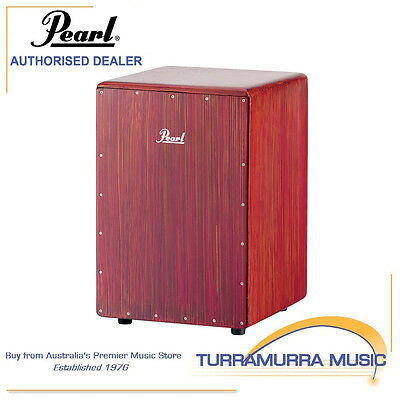Pearl Boom Box Cajon Drum Percussion Rhythm Box - Artisan Red Mahogany PCJ-633BB