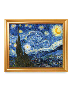 DecorArts Starry Night,Van Gogh Artwork Reproduction museum-quality framed