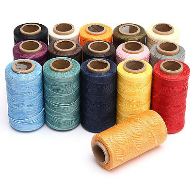 New 260M 1MM Leather Sewing Waxed Wax Thread Hand Stitching Cord Craft DIY Tool