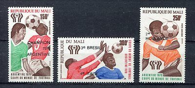 s5390) MALI 1978 MNH** W.C. Football - C.M. Calcio 3v.-OVPTD WINNERS
