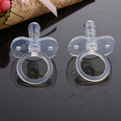 1 Pcs Newborns Baby Pacifiers Safety Soft Silicone Bite Gags Pacifier Care Q8