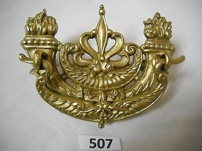 Antique Victorian Ornate Brass Drawer Pull