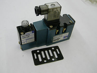 New Mac Pneumatic Valve MV-A1C-A111-PP-114JH with PPE-114DAAG 120vac  C2