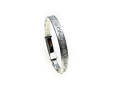 Sterling Silver expanding Baby Bangle - Size Medium