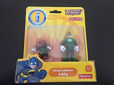 Fisher Price Imaginext DC Super Friends GREEN LANTERN & BD'G figure NEW