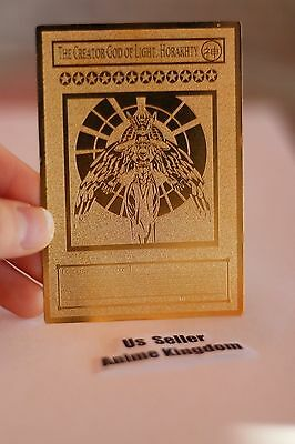 USA Seller Anime Golden Metal English Card THE CREATOR GOD OF LIGHT HORAKHTY