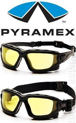 Pyramex I Force Yellow Dual Anti Fog Lenses Safety Glasses Goggles Night Driving