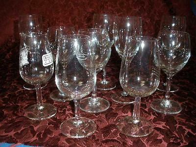 Fine Quality Assorted Glass Wine Glasses X 10
