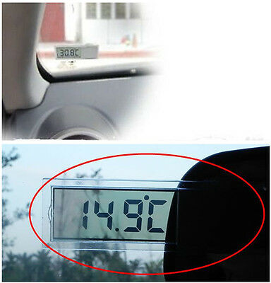 Digital Lcd Display Auto Car Home Window Thermometer Indoor Suction Cup Eps