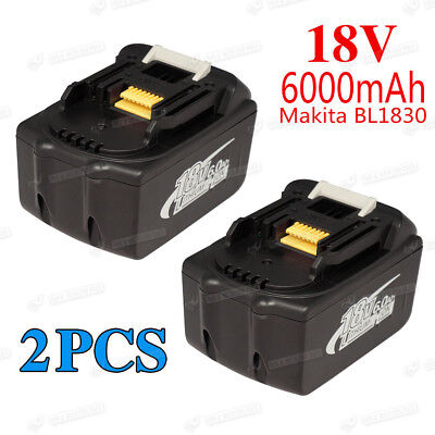 2x Makita BL1830 BL1835 LXT Lithium Ion 6.0Ah 18V Replace Battery 6000MAH new