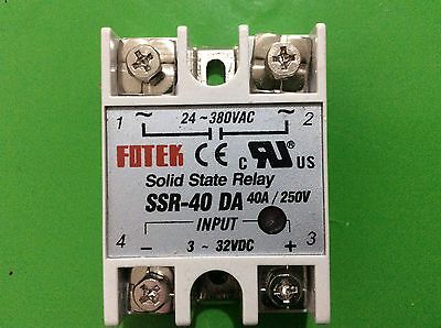 40 A SSR DA SOLID STATE RELAY 3-32V DC - 24-380V AC for Temperature Controller
