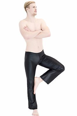 Herren Wetlook Jazzpant Tanz Leggings shiny Glanz elastisch Hauteng stretch S-XL