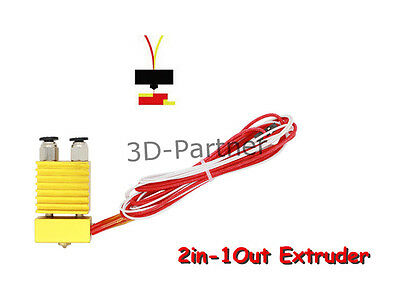 2in-1Out Extruder DIY single head two color Mixing Hot End for 3D Printer