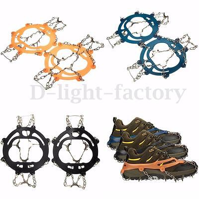 Steel Ice Snow Anti Slip Spikes Grippers Grips Cleats Shoes Shoe Boots Crampons