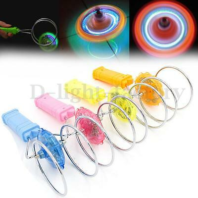 New Flashing Light Up Gyro Wheel Magnetic Kinetic Wheel Science Kids Gift Toy