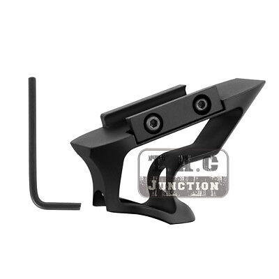 Tactical Foregrip Short Angled Grip Hand Stop Vertical Grip Aluminum Rail Grip